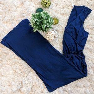 Alfani Blue Sleeveless Jumpsuit - M
